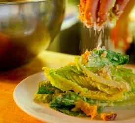 Plating Waterboy Caesar Salad