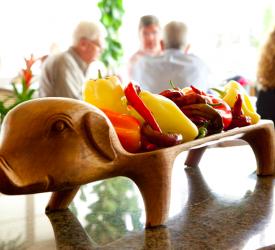 Seasonal Vegetables on the Pig