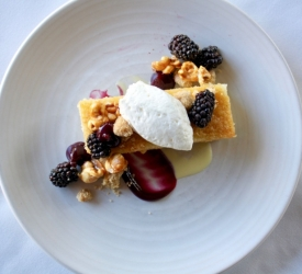 Dessert Brown Butter Gateau with Berries