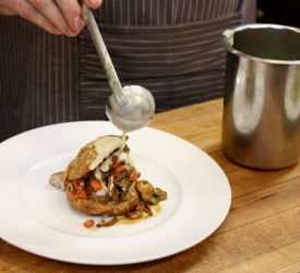 Plating Sweetbreads Gougere